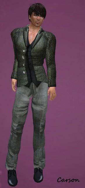 _b[ELLE] - Tweed Jacket - Green  HB - Louis 3 - Golf Pants (2)