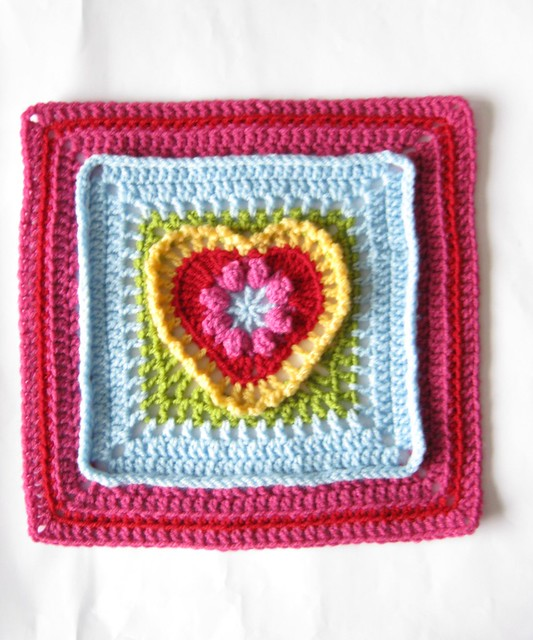 Grandma's Heart Square by Carola Wijma on @ravelry