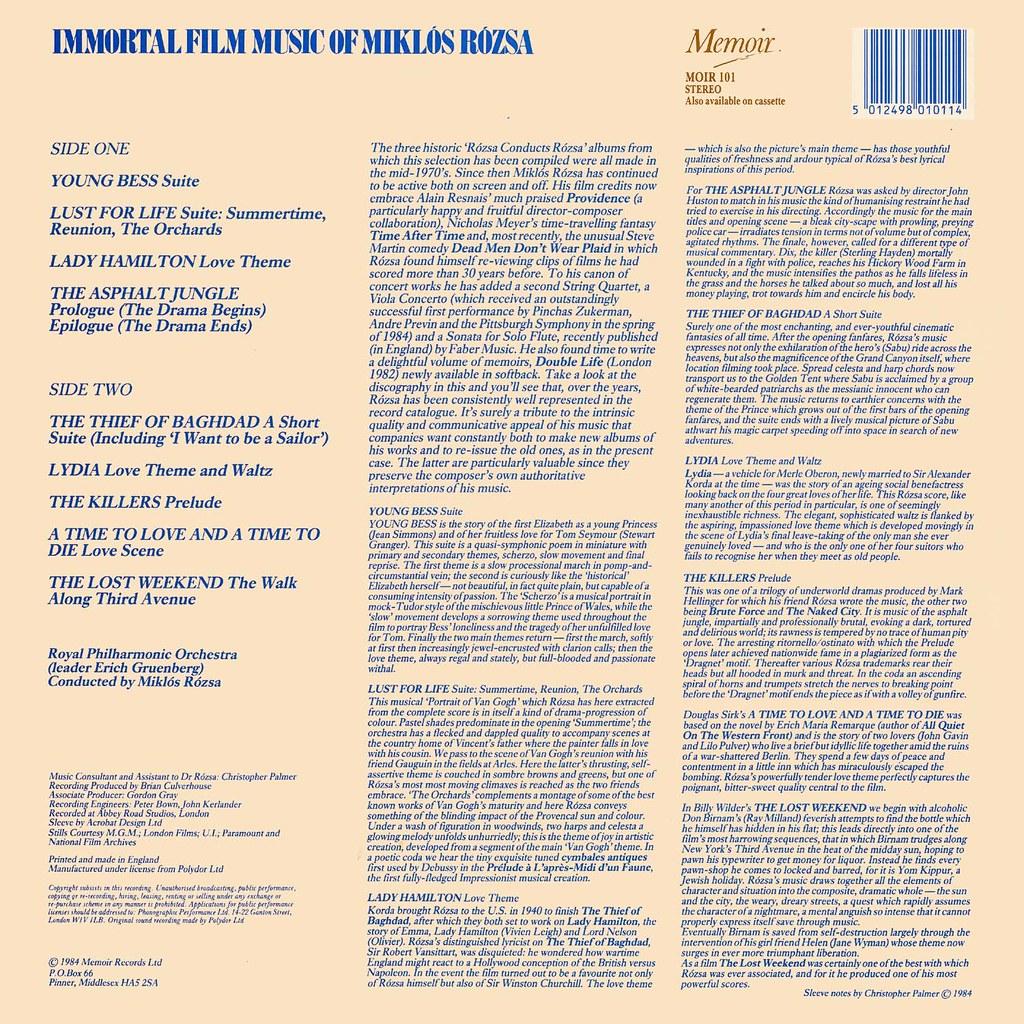 Miklós Rózsa - The Immortal Film Music of Miklós Rózsa
