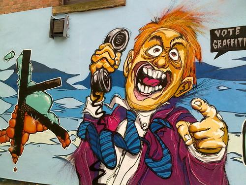 Vote Graffiti - Hopkinson Gallery, Nottingham