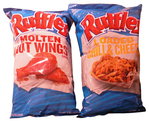 Ruffles Molten Hot Wings and Ruffles Loaded Chili & Cheese