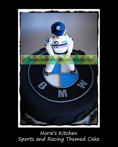 Norie's Kitchen - Sports and Racing Themed Cake - Top View