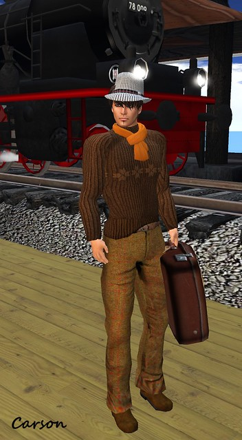 Bad At Croquet Pants, Sweater Borsalina Hat and Vintage Leather Suitcase   The French Touch Hunt