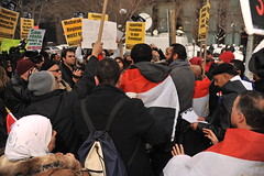 EGYPTIAN PEOPLE'S PROTEST RALLY AGAINST MUBARA...