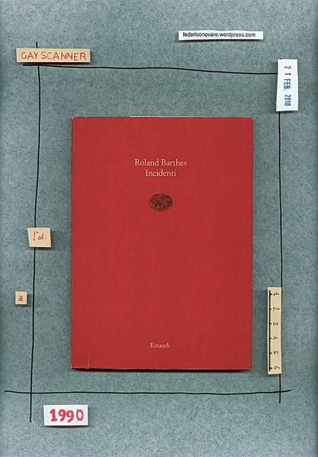 Roland Barthes, Incidenti, Einaudi 1990. Copertina