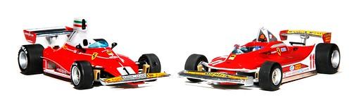 Mattel 312T 1976+312 T4 Scheckter 1979