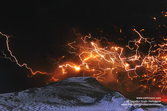Eyjafjallajokull volcano lightning's in the ash plume shs_n3_045830 crop