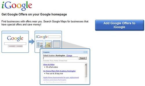 Google Offers for iGoogle