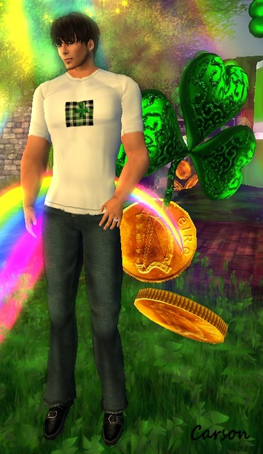 Cilian'gel Denim Pants &Shamrock T-Shirt ($0L)