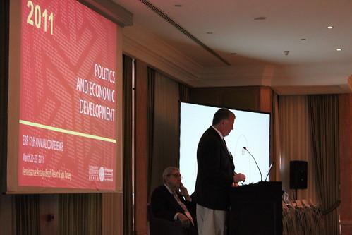 John Wallis speaking at the ERF 2011 opening session