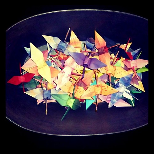 Current total March 21: 51 cranes by me and my sore fingertips #1000cranes