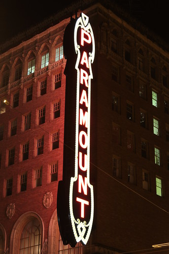 The Paramount Theatre marquee