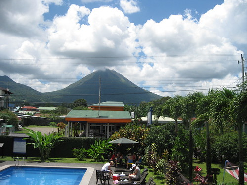 The view of Volcan Arenal from Hotel San Bosco, La Fortuna de San Carlos