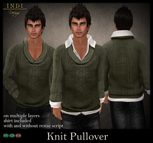 Knit-Pullover-green