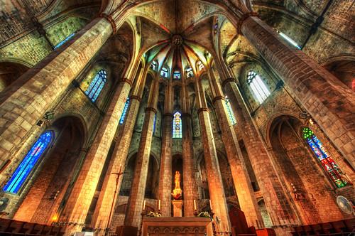 The Sanctum of Santa María del Mar Cathedral by Stuck in Customs