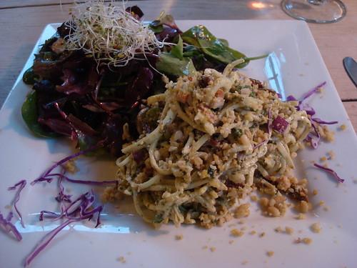 zucchini pasta w/ white truffle pesto