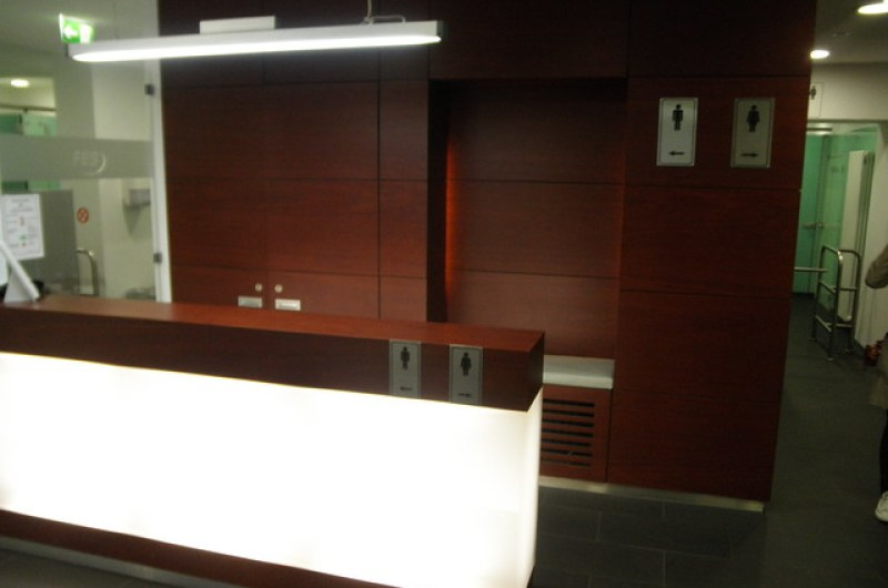 Reception Desk, Public Toilet