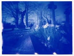 Spring angel in blue