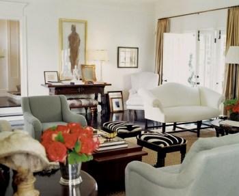 Charles Fradin living room french doors