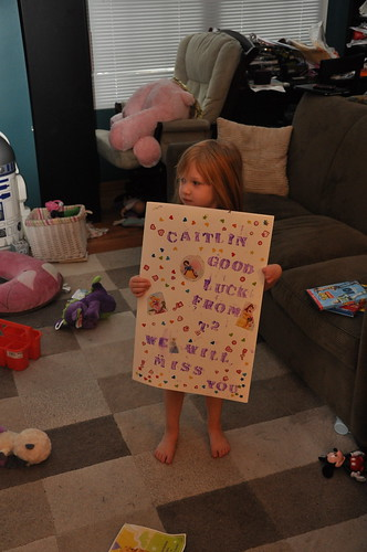 Her classmates made her a going away card!
