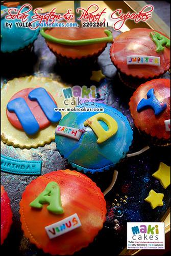 Solar System Planet Astronaut Cupcakes__ - Maki Cakes