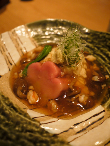 Entree 2: steamed foie gras with beancurd skin