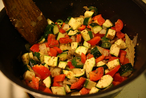 veggies in pot