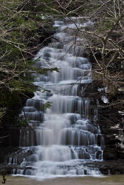 Falls along Six Mile Creek