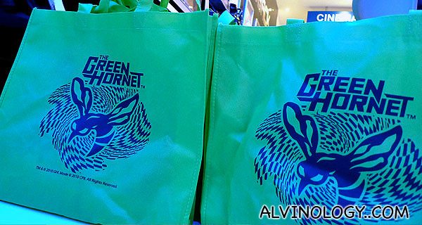 The Green Hornet goodie bags