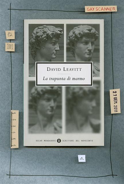 David Leavitt, La trapunta di marmo, Mondadori 2001. Copertina.