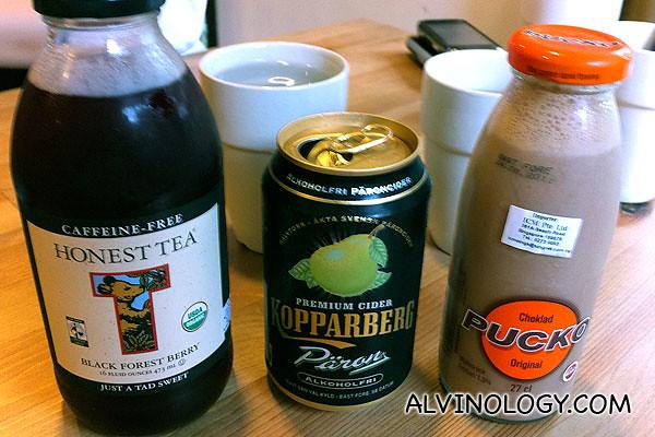 Overpriced supermarket drinks