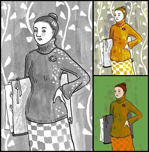 Illustration Friday: Sweater