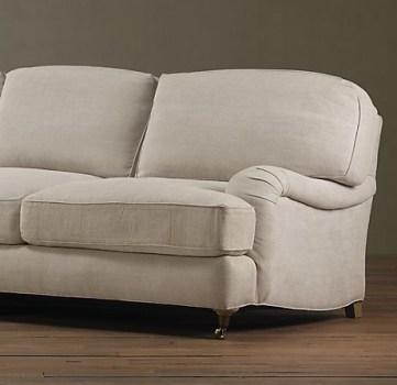 Restoration Hardware Englished rolled arm sofa