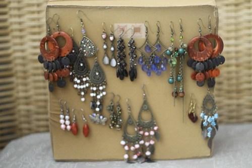 DIY earring holder for (fishhook)