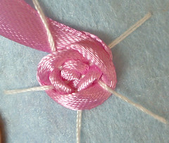 Ribbon embroidery on felt 11