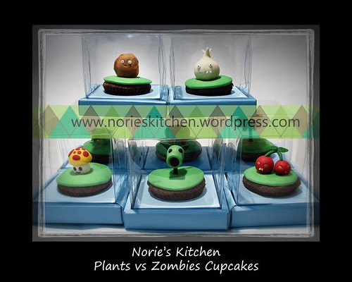 Norie's Kitchen - Plants vs Zombies Cupcakes --> Plants Team