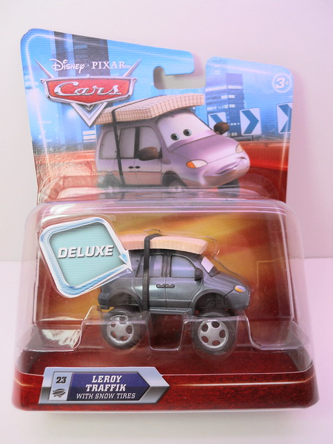 disney cars deluxe leroy traffik with snow tires (1)