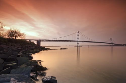 Forth Road Bridge sunset - Explored 10 April 2011 #321