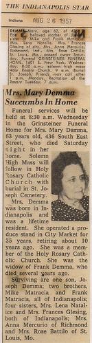 Mary Demma Obit