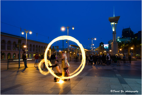 Fire Dancing Ferry Building San Francisco April 24 2011 by davidyuweb