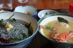 江の島めぐり―生シラス丼(Albino ricebowl, Enoshima, 2011)