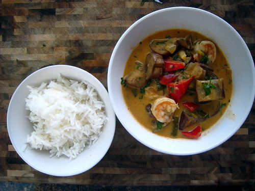 Eggplant and Shrimp Curry