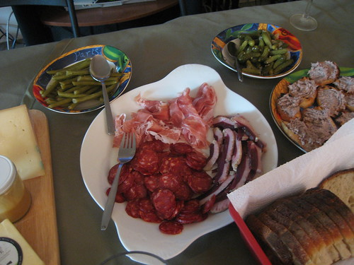 Duck prosciutto, prosciutto, dried Sausage