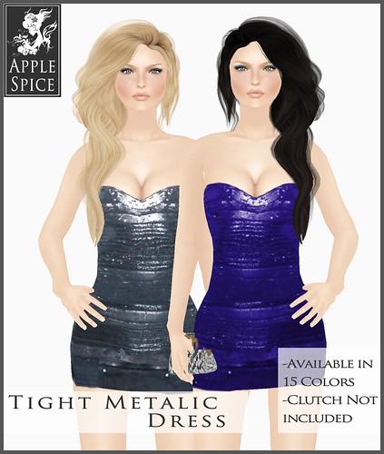 Apple Spice - Tight Metallic Dress - Fatpack $400L