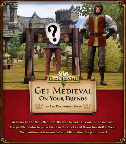Get Medieval on your friends and send them to the stocks!