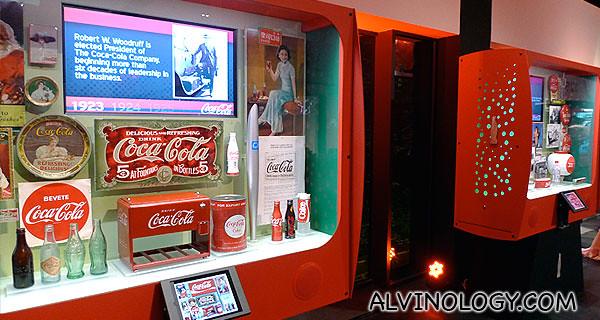 Various Coca-Cola exhibits