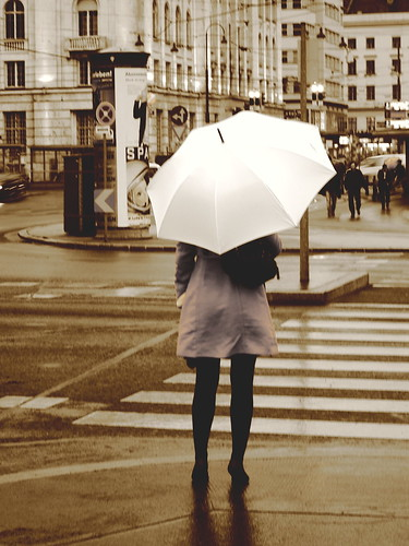 White umbrella