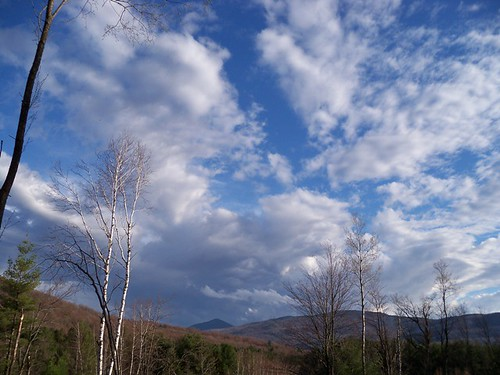 retreating clouds