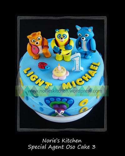 Norie's Kitchen - Special Agent Oso Cake with Dottie and Wolfie