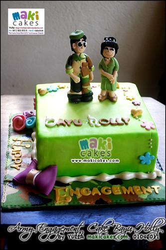 Army-Military Engagement Cake - Maki Cakes